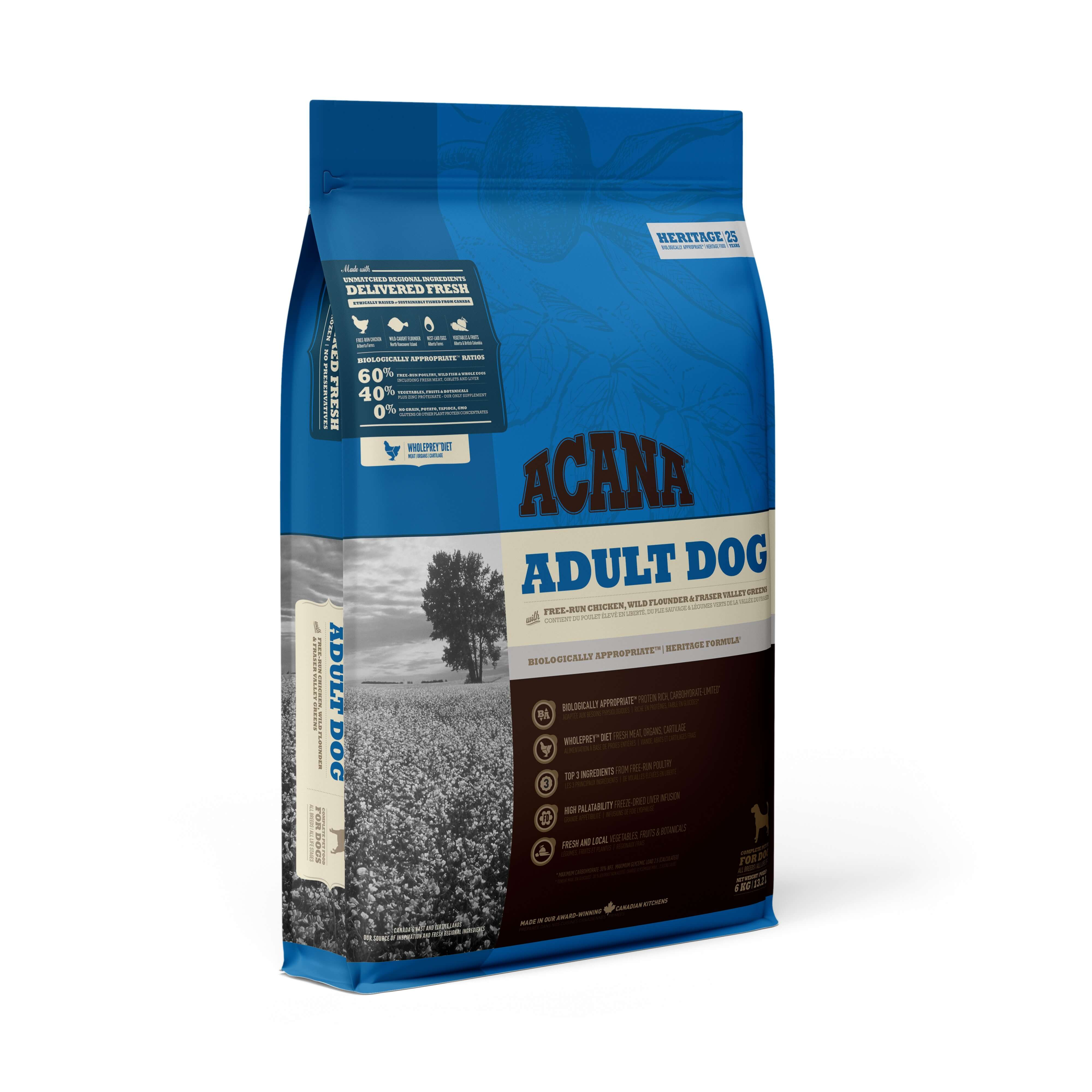 Acana Adult Dog | 17kg - Click to enlarge picture.
