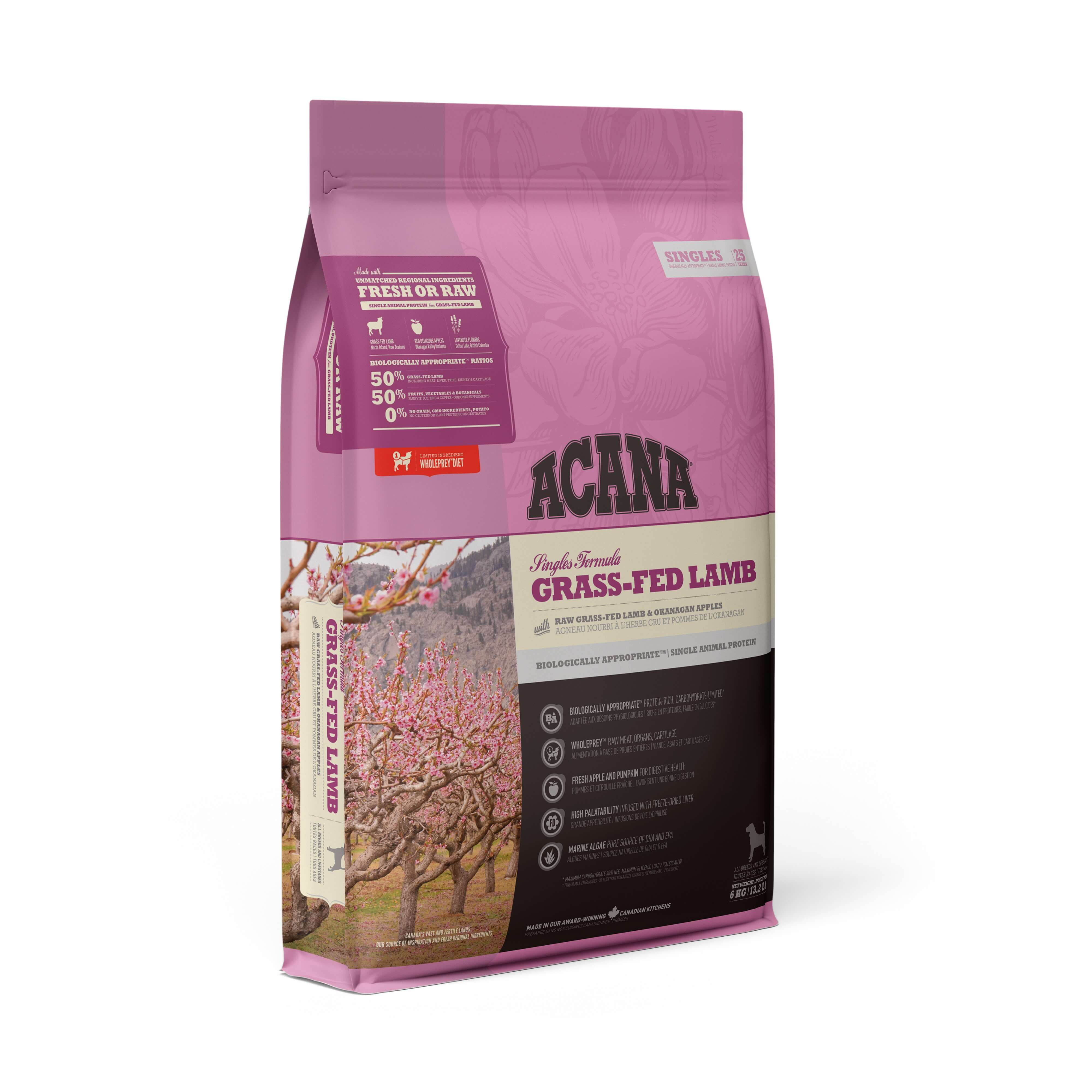 Acana Grass-Fed Lamb | 11.4kg - Click to enlarge picture.