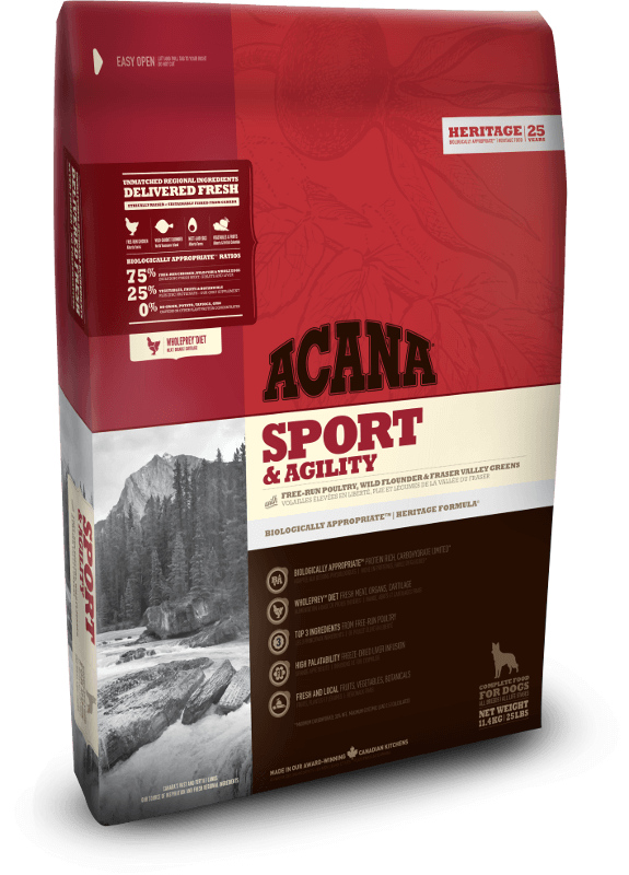 Acana Sport & Agility | 11.4kg - Click to enlarge picture.
