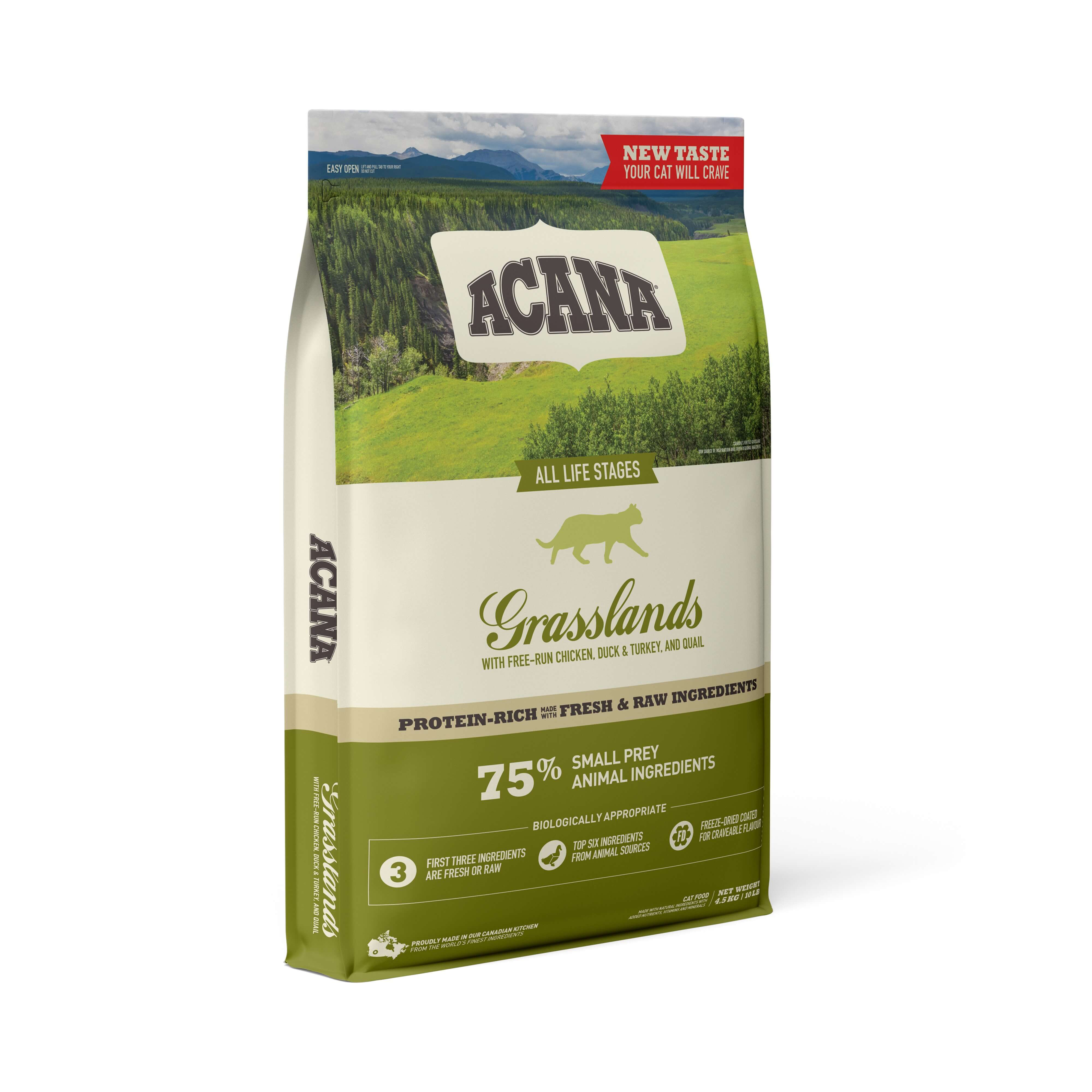 Acana Grasslands Cat | 4.5kg - Click to enlarge picture.