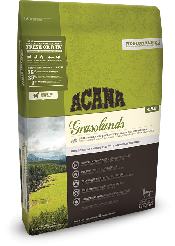 Acana Grasslands Cat | 5.4kg - Click to enlarge picture.