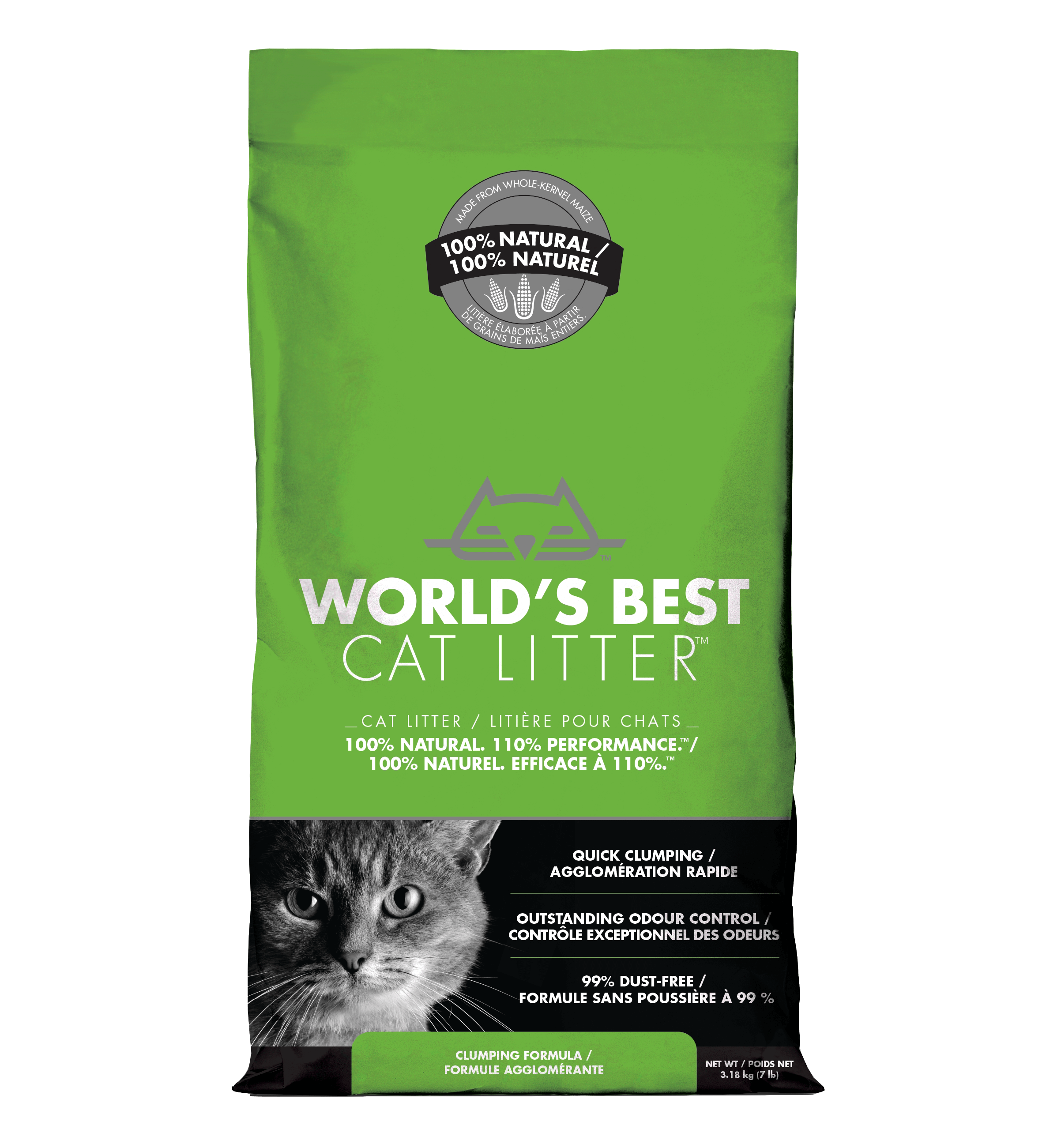 World's Best Cat Litter - Clumping Formula | 3.18kg - Click to enlarge picture.