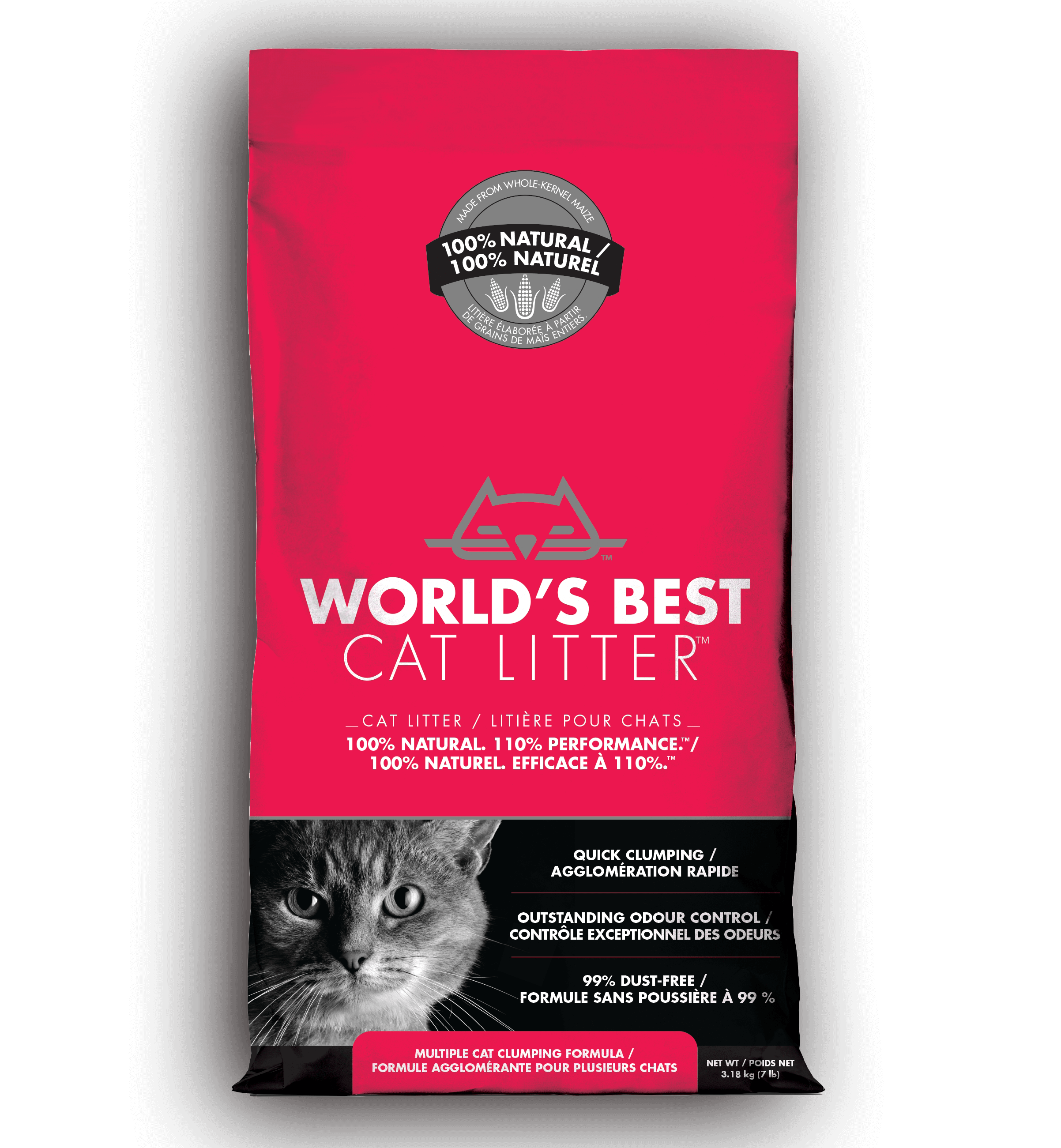 World's Best Cat Litter - Multi Cat Formula | 3.18kg - Click to enlarge picture.