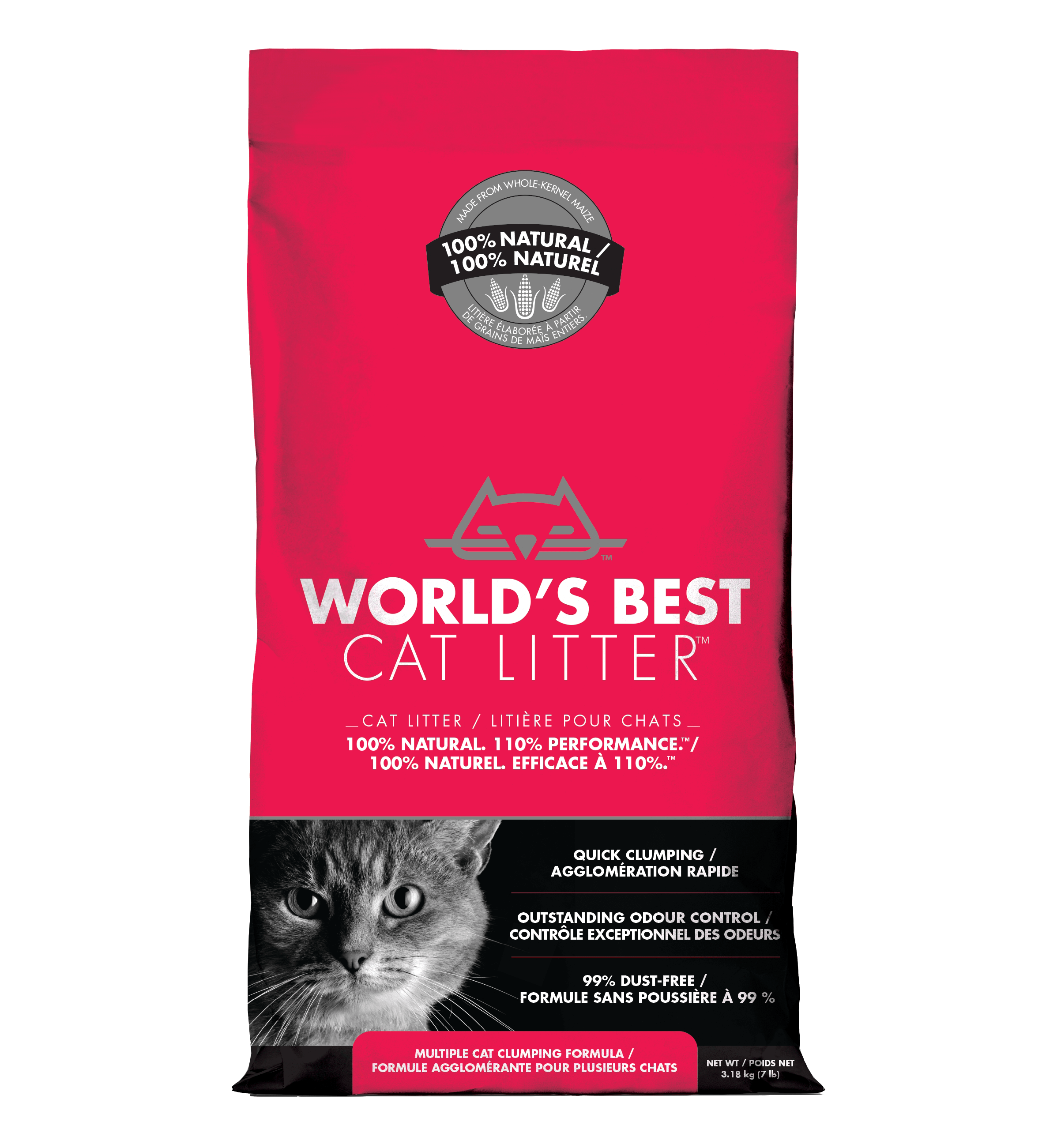 World's Best Cat Litter - Multi Cat Formula | 12.70kg - Click to enlarge picture.