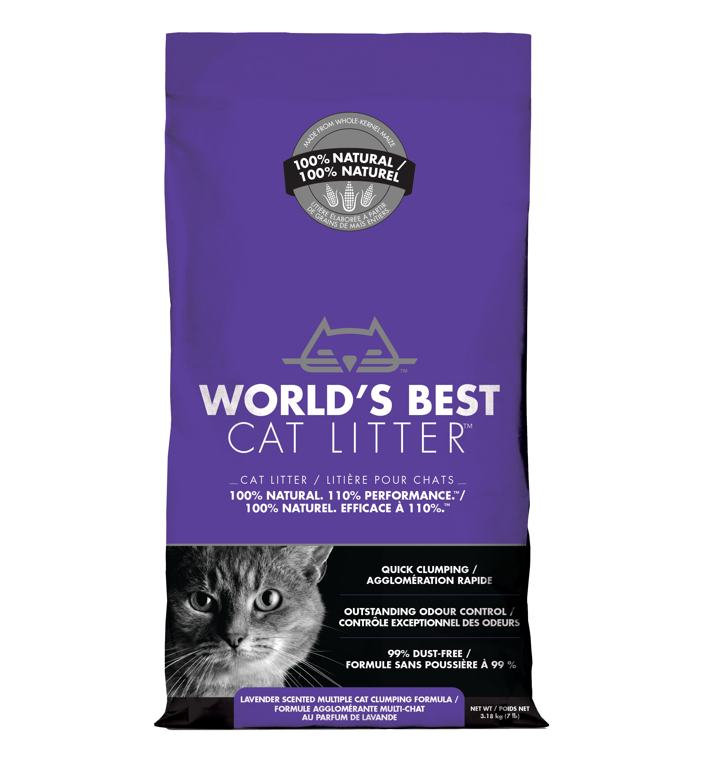 World's Best Cat Litter - Scented Multi Cat Formula | 3.18kg - Click to enlarge picture.