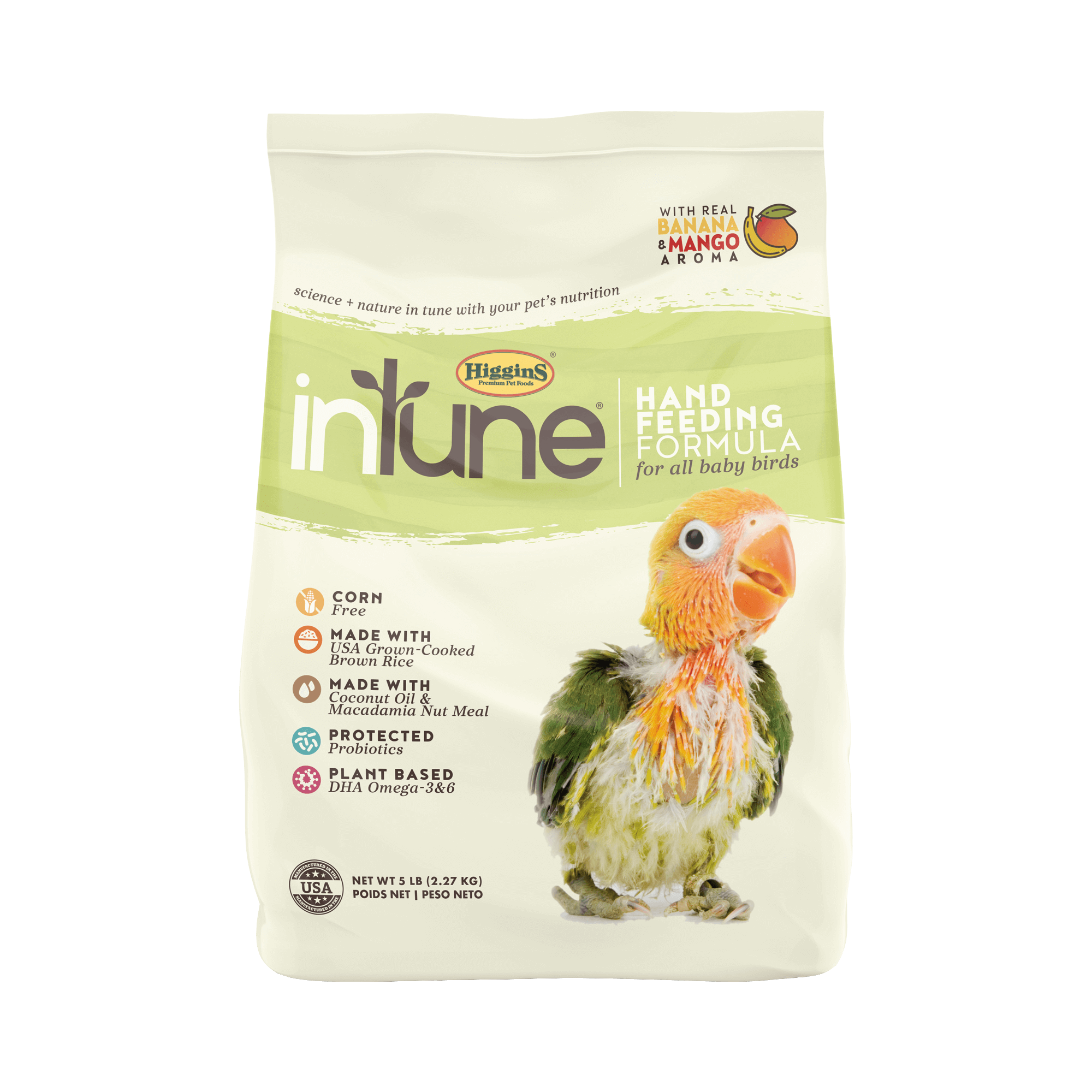 InTune Natural - Handfeeding Formula for All Birds | 2.27kg - Click to enlarge picture.