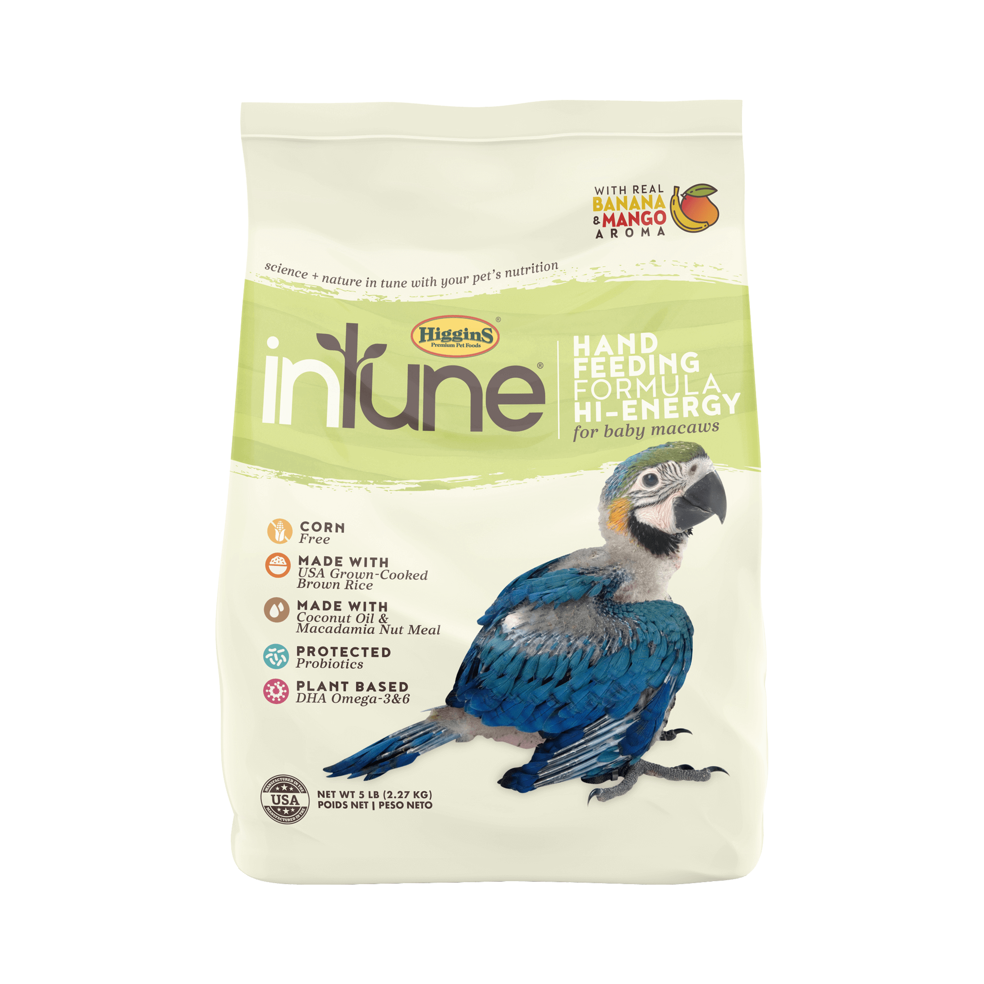 InTune Natural - Handfeeding Formula Hi Energy | 2.27kg - Click to enlarge picture.