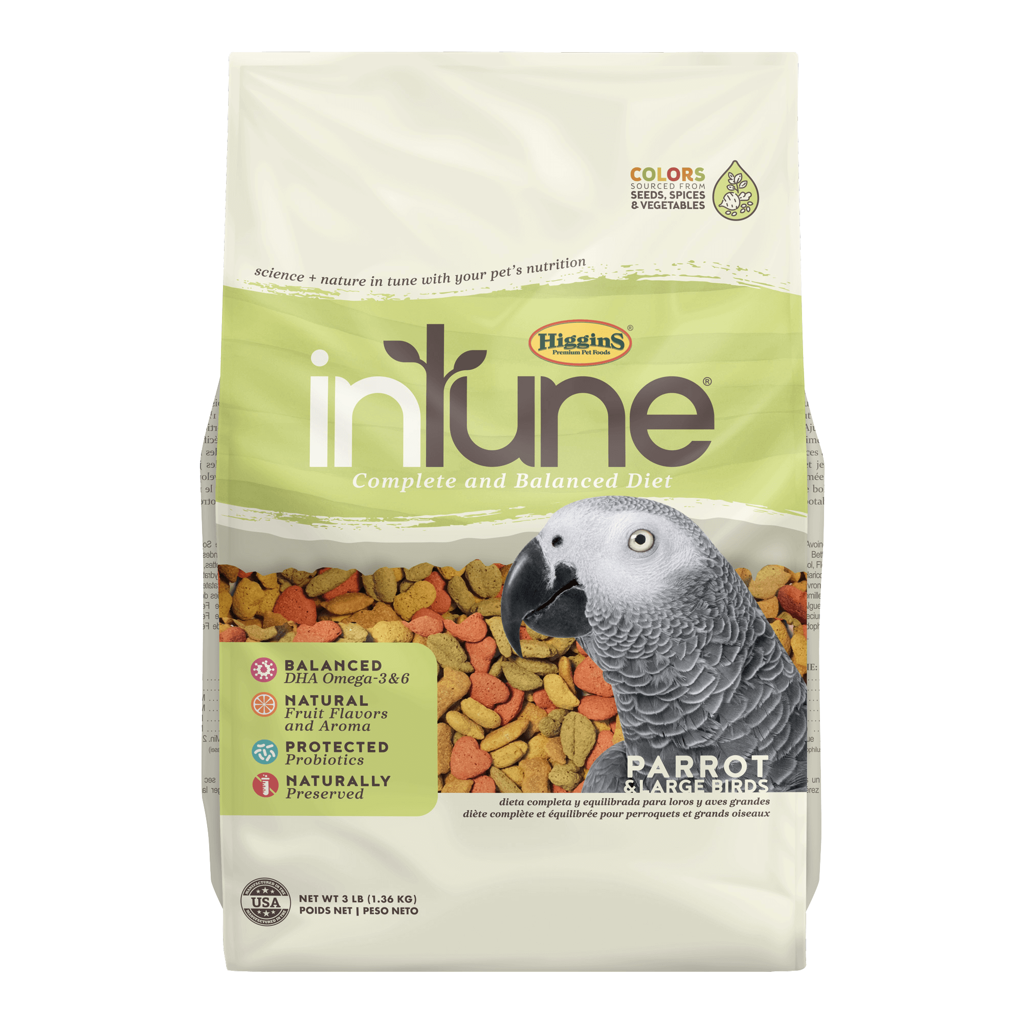 InTune Natural - Parrot Pellets | 8.2kg - Click to enlarge picture.