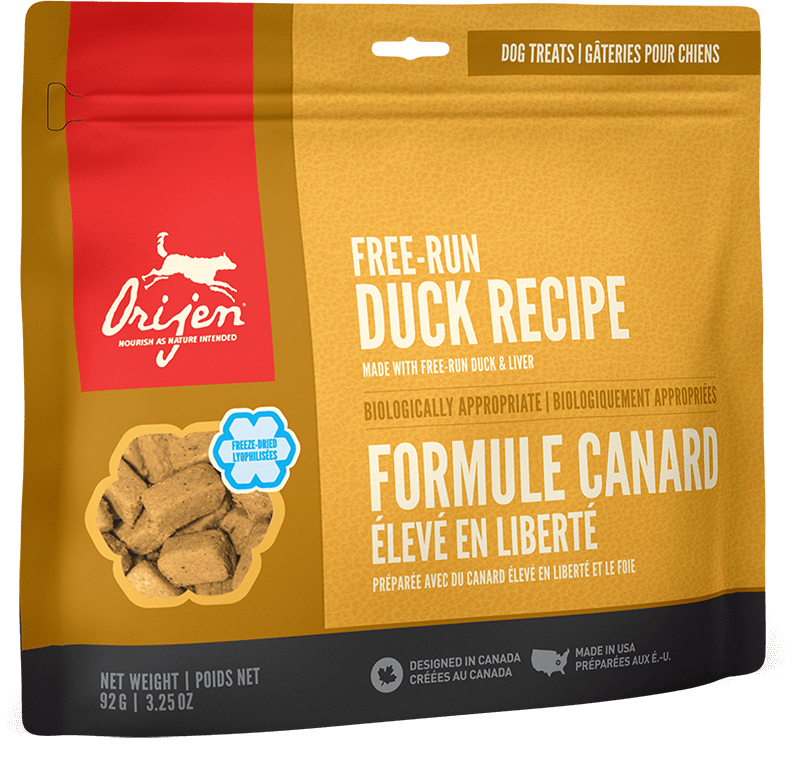 Orijen Dog Treats - Free-Run Duck | 92gm - Click to enlarge picture.