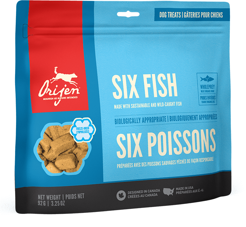 Orijen Dog Treats - Six Fish | 42.5gm - Click to enlarge picture.