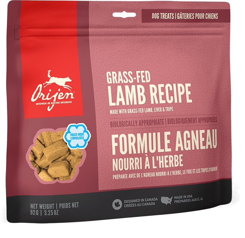 Orijen Dog Treats - Grass-Fed Lamb | 92gm - Click to enlarge picture.