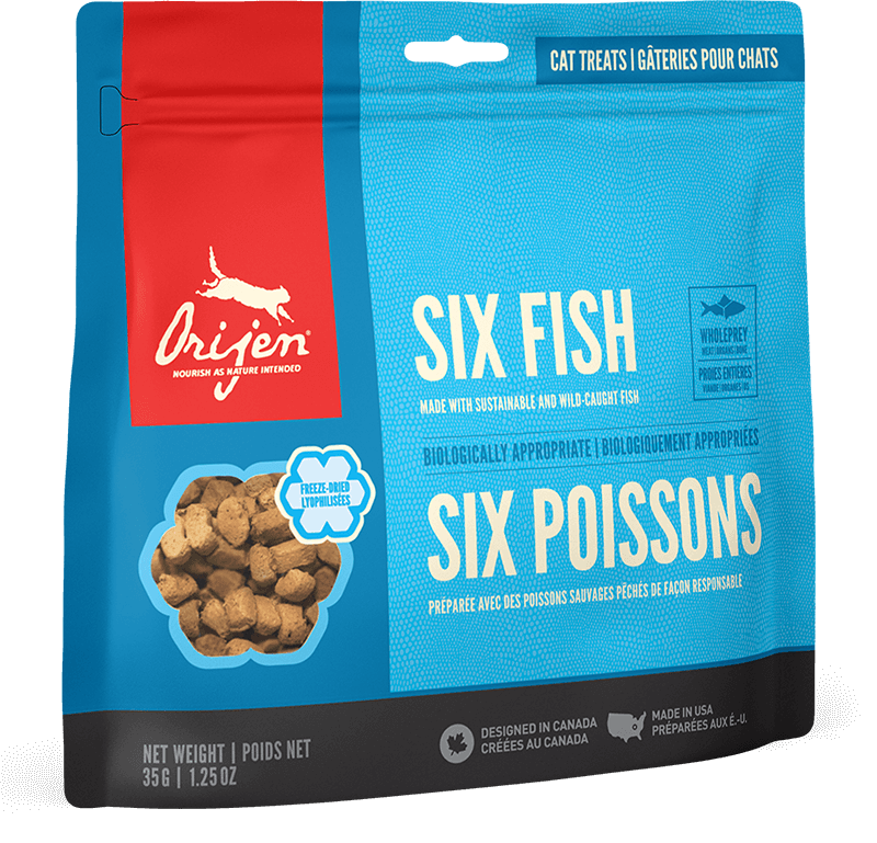 Orijen Cat Treats - Six Fish | 35gm - Click to enlarge picture.