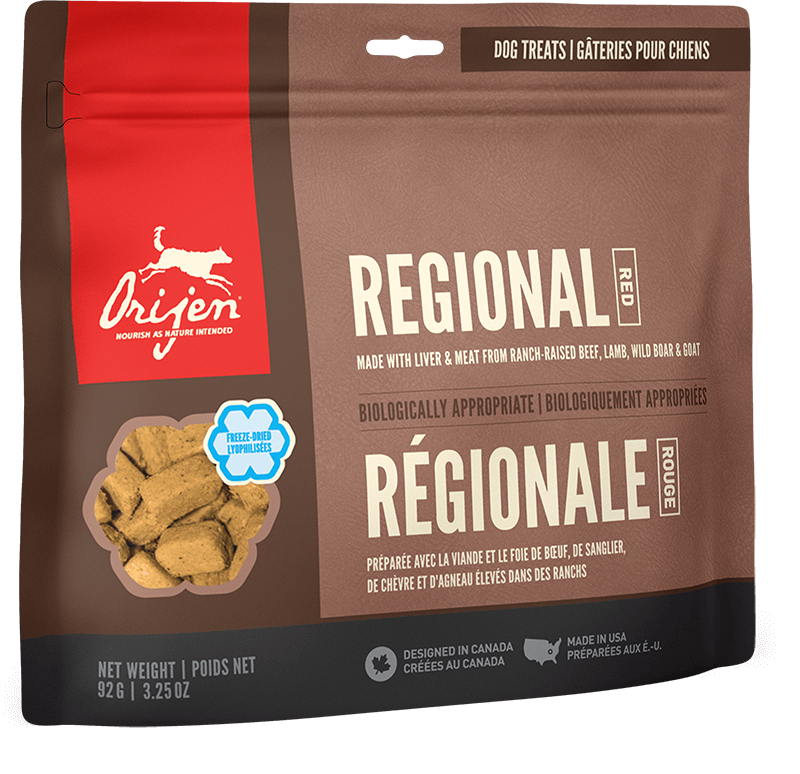 Orijen Dog Treats - Regional Red | 92gm - Click to enlarge picture.
