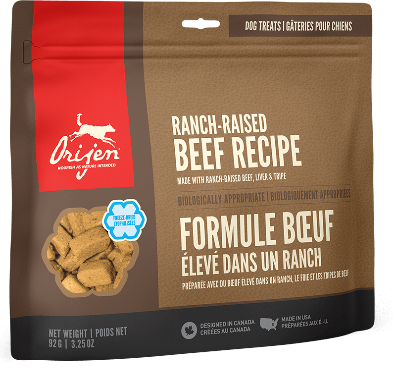 Orijen Dog Treats - Ranch-Raised Beef | 92gm - Click to enlarge picture.