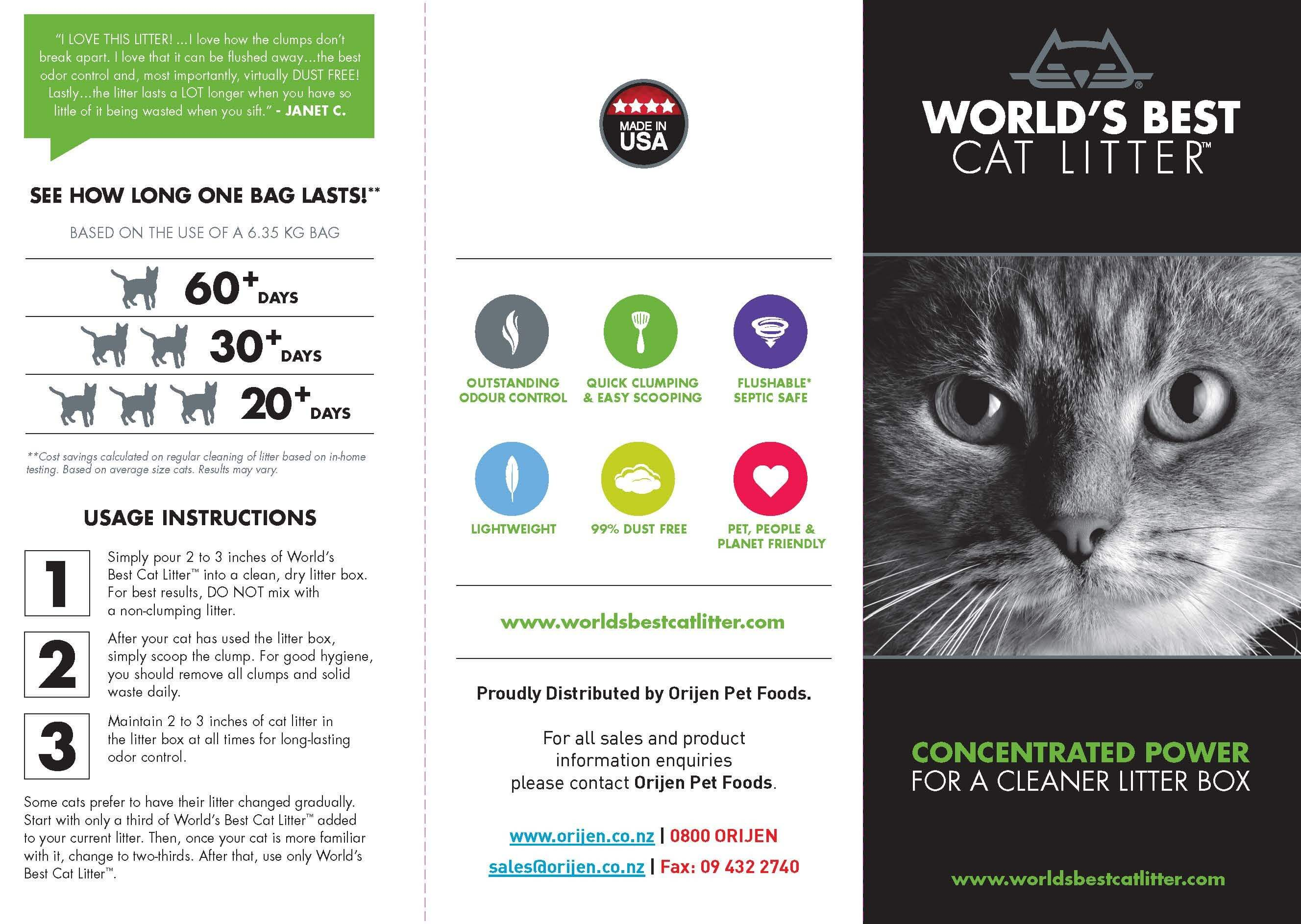 Flyer - World's Best Cat Litter (bunch of 20) - Click to enlarge picture.