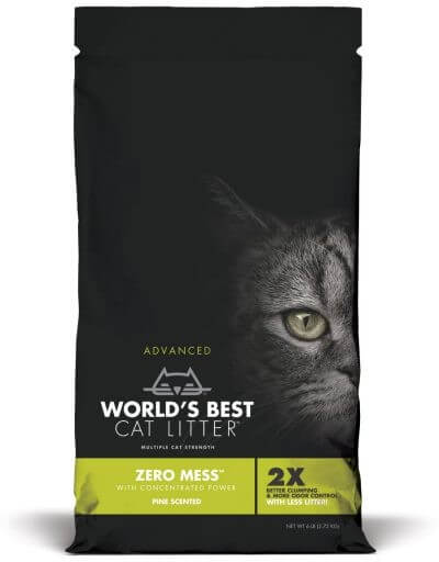 World's Best Cat Litter - Zero Mess Pine Scented | 5.4kg - Click to enlarge picture.